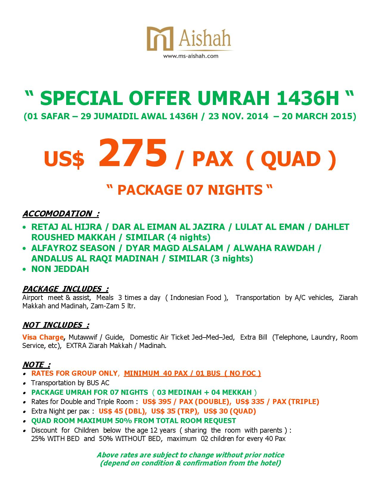 SPECIAL OFFER UMRAH 1436H SEASON 1-page-001