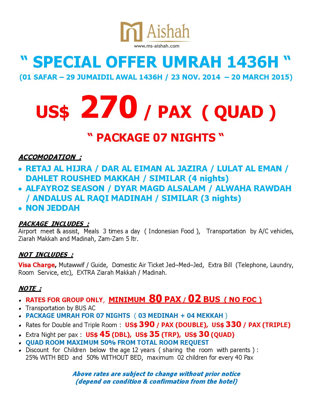 SPECIAL OFFER UMRAH 1436H SEASON 1-page-002