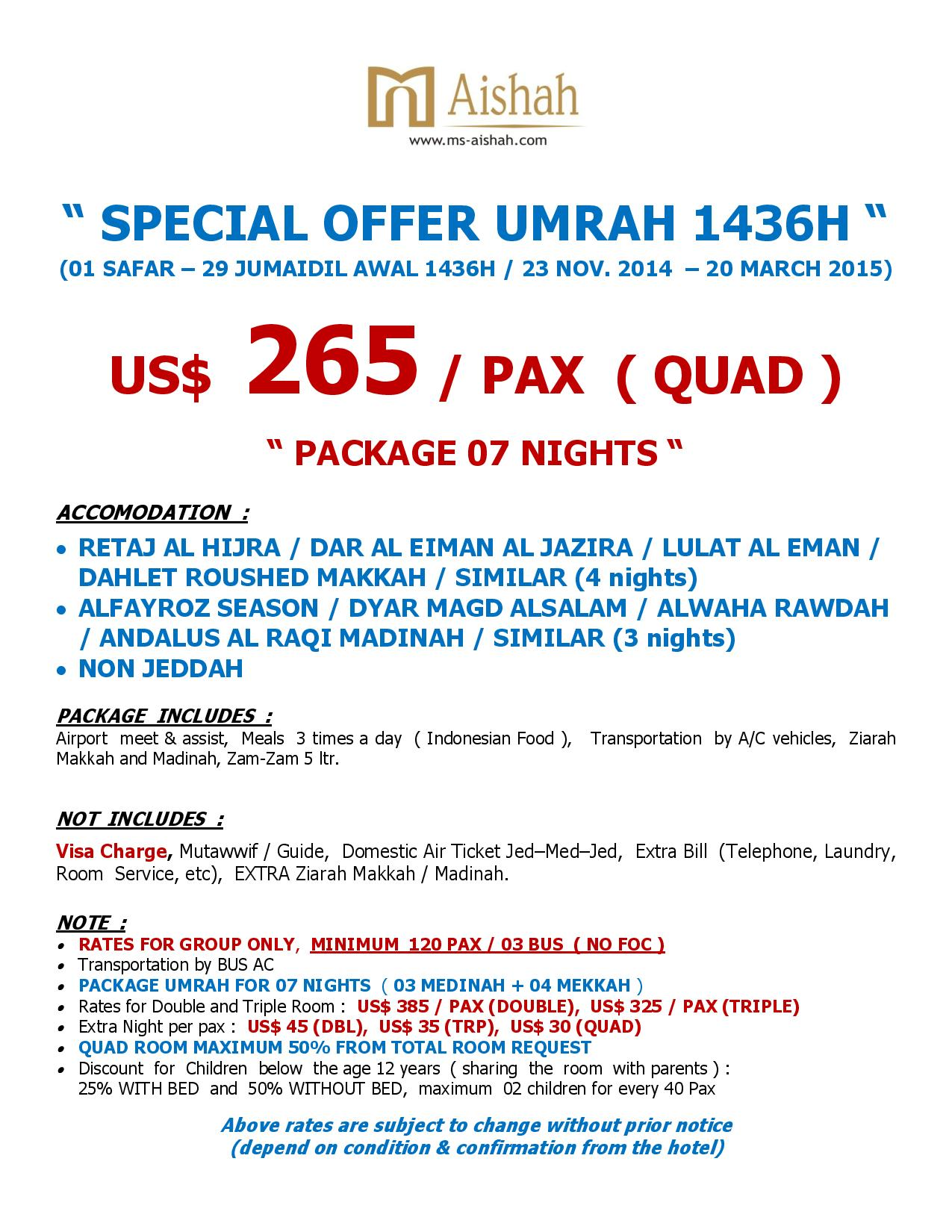 SPECIAL OFFER UMRAH 1436H SEASON 1-page-003