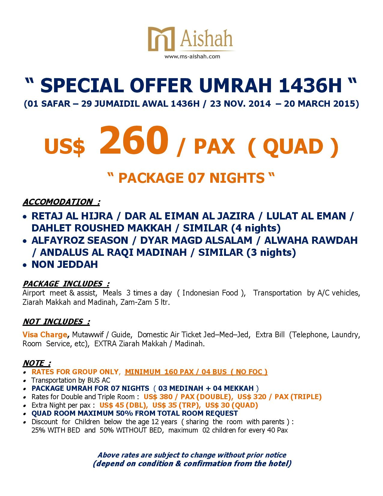 SPECIAL OFFER UMRAH 1436H SEASON 1-page-004